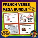 French Verbs Boom Cards, French Digital Flashcards, Regula
