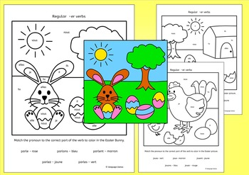 French Regular Verb Practice - Easter Paques
