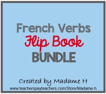French Verbs Flip Book Bundle