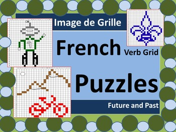 French Verbs Grid Puzzles Future and Past
