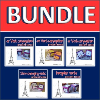French Verbs Present Tense BUNDLE
