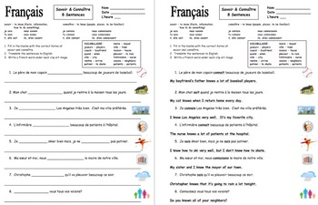 French Verbs Savoir and Connaître and Image IDs