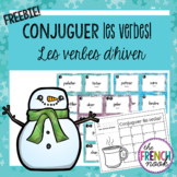French Verbs Task Cards for Winter