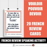 French Verbs VOULOIR - POUVOIR - DEVOIR Task Cards - Carte