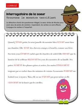 French Verbs// Verbotin: Portrait d'un monstre