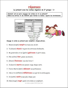 French Verbs in the Present Tense - 3 Worksheets and a Battleship Game