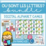 French Virtual Alphabet Games BUNDLE - Où sont les lettres?