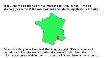 French Virtual Field Trip NICE, FRANCE