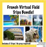 French Virtual Field Trips Bundle (5 Trips!) | 5 Excursion
