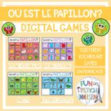 French Virtual Vocabulary Games - Où est le papillon?