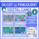 French Virtual Vocabulary Games - Où est le pingouin?