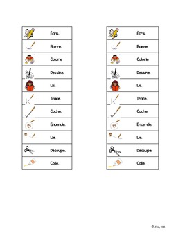 French Visual Instructions - Les instructions visuelles
