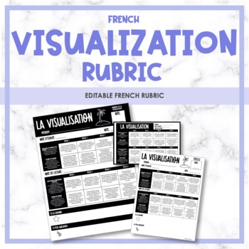 French Visualization Rubric - Rubrique (la visualisation)