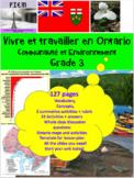 "French: ""Vivre et travailler en Ontario"", Grade 3, 127 slides"