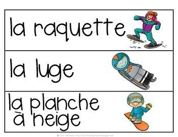 French Vocabulary Activities - Winter Sports