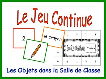 French Classroom Vocabulary Activity for Groups, Inventive
