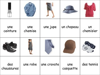 French Clothing Activity for Groups, Inventive Twist on Memory