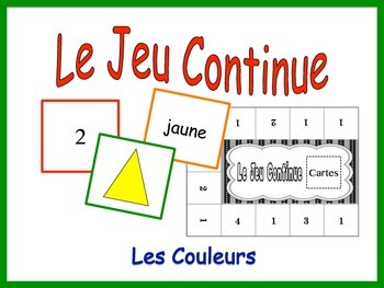 French Colors Activity for Groups, Inventive Twist on Memory