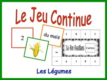 French Vegetable Activity for Groups, Inventive Twist on Memory