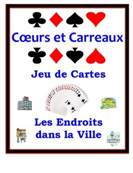 French City Locations Speaking Activity: Playing Cards, Groups