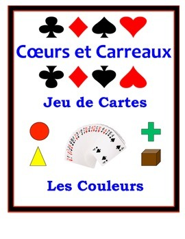 French Colors Speaking Activity: Playing Cards, Groups