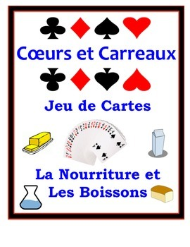 French Food and Drinks Speaking Activity: Playing Cards, Groups