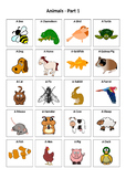 French Vocabulary: Animals