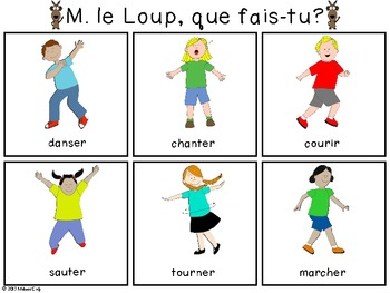 French Vocabulary Building Game: M. le Loup, que fais-tu?
