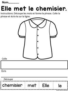 French Vocabulary Bundle {Dual language, immersion, FLES}