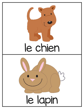 French Vocabulary Cards - Animals {les animaux}