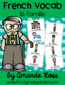 French Vocabulary Cards - Family {la famille}