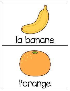 French Vocabulary Cards - Fruits & Vegetables {les fruits et les légumes}