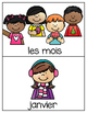 French Vocabulary Cards - Months & Weekdays {les mois & le