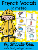 French Vocabulary Cards - Weather {la météo}