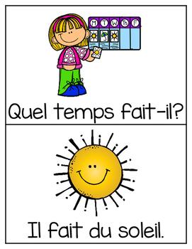 French Vocabulary Cards - Weather {la météo}