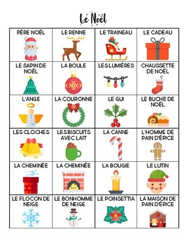 French - Vocabulary - Christmas