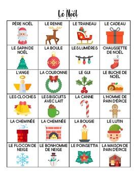 French - Vocabulary - Christmas