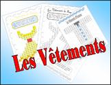 French Vocabulary. Clothes (Les Vêtements). Wordsearch.