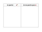 French Vocabulary Clothing Graphic Organizer