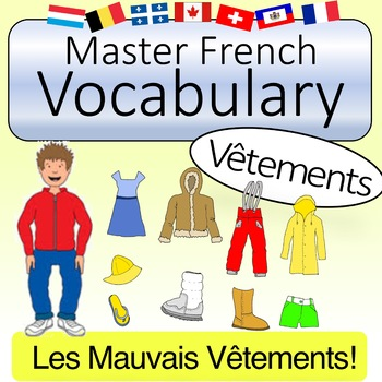 French Vocabulary - Clothing Items (with Quizlet & KAHOOT)