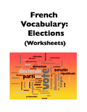 French Election Vocabulary (Worksheets)