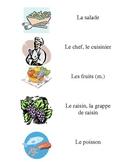 French Vocabulary Flash Cards: Au Restaurant