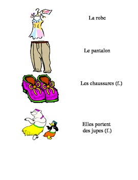 French Vocabulary Flash Cards: Les Vetements / Clothes