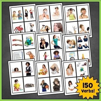 French Vocabulary Flashcards and French Verbs Flashcards Bundle
