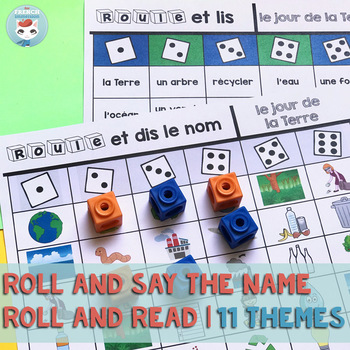 French Vocabulary GAME: Roll and Read | Seasonal Themes | jeu français