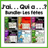 French Vocabulary Game BUNDLE - J'ai. . . Qui a. . .?  (les fêtes)