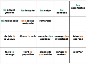 French Vocabulary Game with cards. Bien Dit 2, Chapter 2