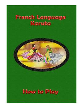 French Vocabulary Karuta (CARD GAME)