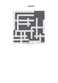 French Vocabulary - Living Room- Furniture and Household Items Crossword Puzzle