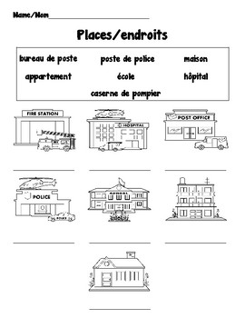 Beginning French Vocabulary Packet: Transportation and Communities